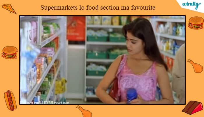 Supermarkets lo food section ma favourite