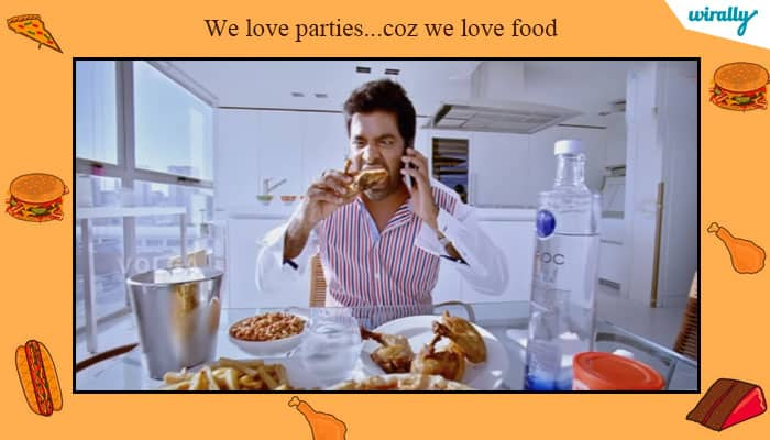 We love parties...coz we love food