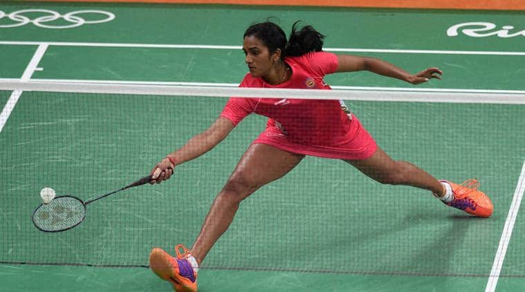Rio de Janeiro: Shuttler P.V. Sindhu plays a shot in the pre-quarter Finals match against Tai Tzu Ying of Chinese Taipei in 2016 Summer Olympics at Rio de Janeiro in Brazil on Monday. Sindhu won 21-13 21-15. PTI Photo by Atul Yadav (PTI8_16_2016_000039a)