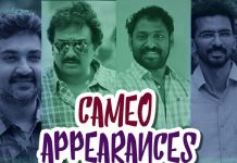 Cameo appearance, Bahubali Movie, Rajamouli, Tagore Movie, V.V.Vinayak, Chiranjeevi, Shekhar Kamula, Leader Movie, Harish Shankar, Ninne Ishtapaddanu Movie, Srikanth addala, SVSC Movie, Vedam Movie, Krish, D for Dopidi Movie, Deva Katta, Karthi, Yuva Movie, Sampoornesh Babu, Mahatma Movie, Siddharth, Amrutha Movie, S.S.Rajamouli, Sye Movie, Srikanth Addala, Arya Movie, Nikhil, Sambaram Movie, Rana Daggubati, Ye Jawani Hain Deewani Movie, Srikanth Addala, Bommarillu Movie, Adavi Sesh, Sontham Movie, Saptagiri, Bommarillu Movie, Sudheer babu, Ye maaya chesave Movie