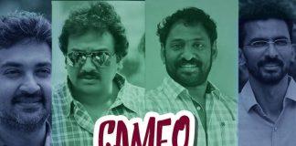 Cameo appearance, Bahubali Movie, Rajamouli, Tagore Movie, V.V.Vinayak, Chiranjeevi, Shekhar Kamula, Leader Movie, Harish Shankar, Ninne Ishtapaddanu Movie, Srikanth addala, SVSC Movie, Vedam Movie, Krish, D for Dopidi Movie, Deva Katta, Karthi, Yuva Movie, Sampoornesh Babu, Mahatma Movie, Siddharth, Amrutha Movie, S.S.Rajamouli, Sye Movie, Srikanth Addala, Arya Movie, Nikhil, Sambaram Movie, Rana Daggubati, Ye Jawani Hain Deewani Movie, Srikanth Addala, Bommarillu Movie, Adavi Sesh, Sontham Movie, Saptagiri, Bommarillu Movie, Sudheer babu, Ye maaya chesave Movie