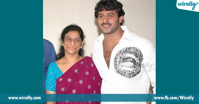 prabhas with his mother