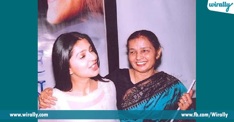 Bhoomika with his mother