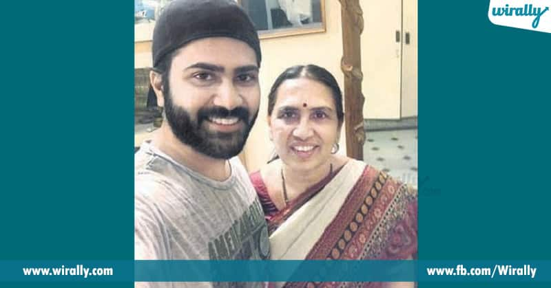 Sharawanad with his mother