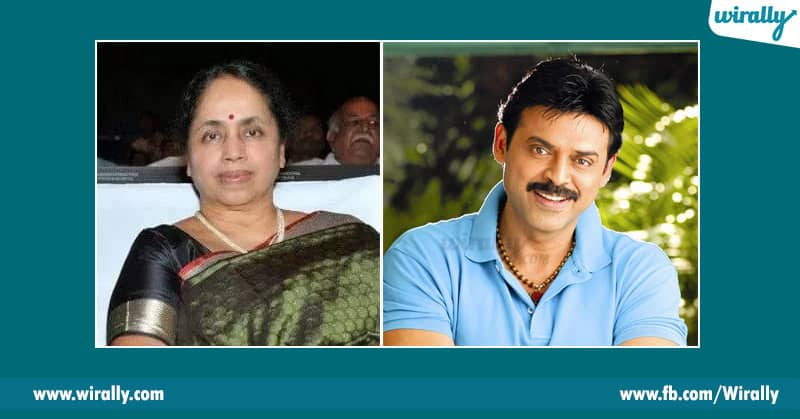 venkatesh with his mother