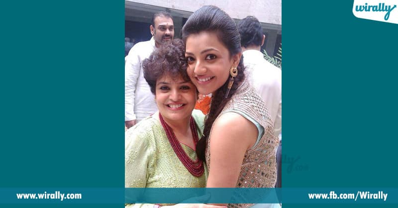kajal with his mother