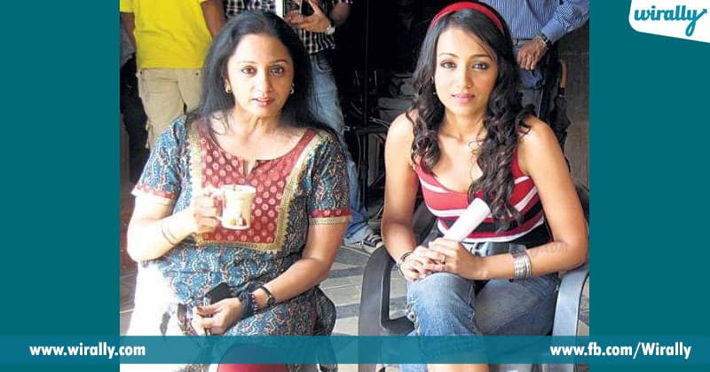 trisha with his mother