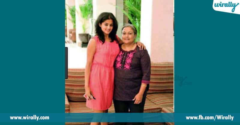 priyamani with his mother