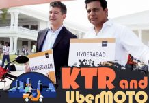 UberMOTO, KTR, Hyderabad Metro Rail,