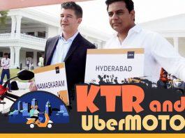UberMOTO, KTR, Hyderabad Metro Rail,
