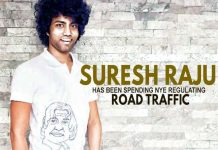 Suresh Raju spends NYE regulating road traffic, Suresh Raju,