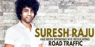 Suresh Raju spends NYE regulating road traffic, Suresh Raju,