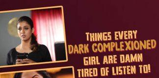 dark complexioned girl