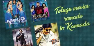 Telugu to Kannada, Bulbul, Varadanayaka, Brindavana, Maanikya, Power, Veera Madakari, Ranna, Bale Jodi, Sundaranga Jaana, Tirupathi Express,