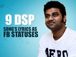 lyrics as FB statuses
