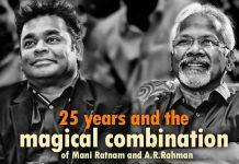 A.R.Rahman,Mani Ratnam,Roja, Bombay, Sakhi, Amrutha, Yuva, Guru, Villain, Kadali, OK Bangaram Movie, Cheliyaa Movie,
