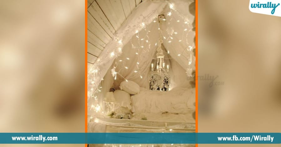 7 different ways to decorate your room with string lights