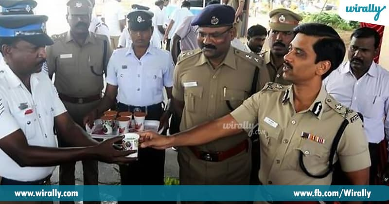 Ragi Malt being given to Traffic Constables1