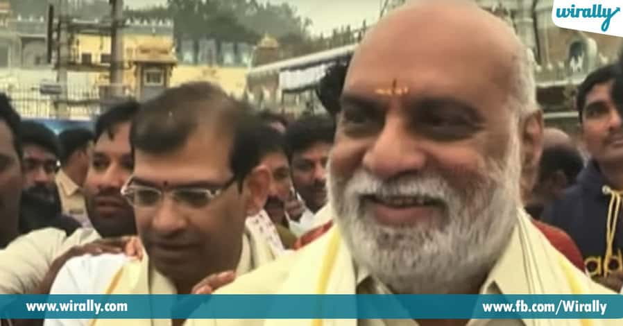 2. K.Raghavendra Rao – Visits Tirupati and shaves his beard after completing the shooting.