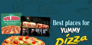 Pizza Den, Sindi Colony, Little Italy, Flying Spaghetti Monster, Papa John, Thinespo, Olive Bistro, Tabula Rasa, Over the Flames,Pepper Jack, Manikonda, Pizza Express, Padma Rao Nagar, Hyderabad