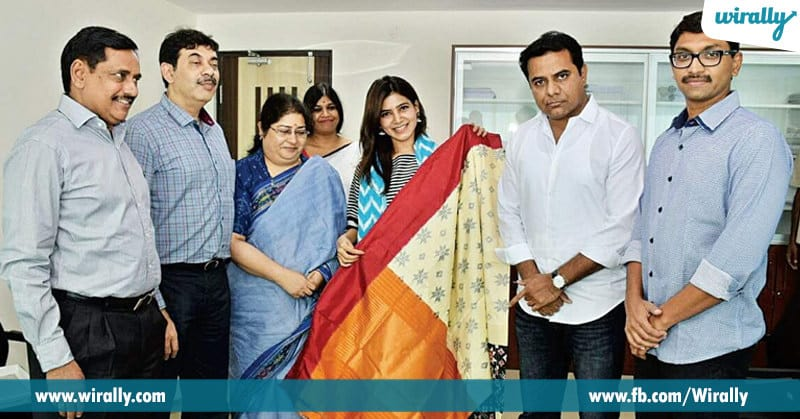 1 Samantha taking charge of promoting handloom attires