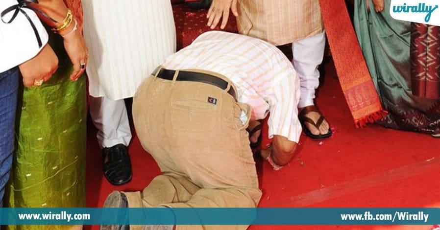 4 touching feet of elders