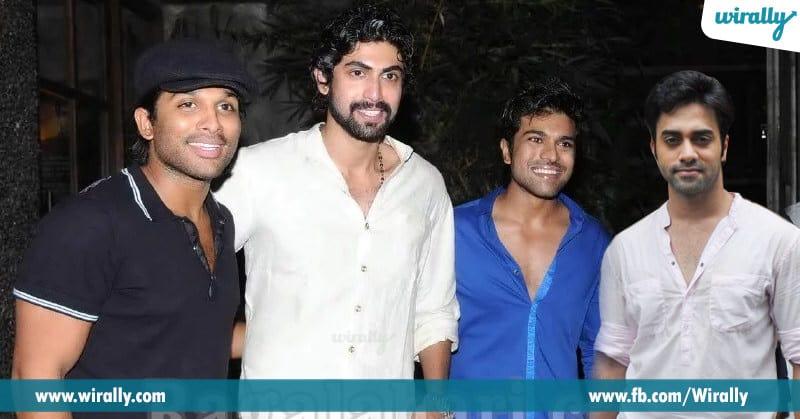 4. Allu Arjun, Ram Charan, Rana Daggubati and Navdeep