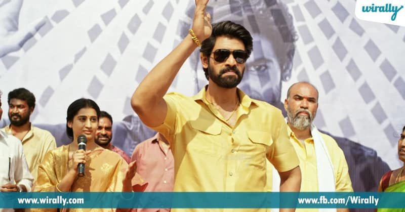 4. Rana Daggubati from Leader and Nene Raju Nene Mantri