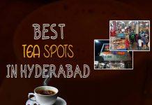 Hyderabad, Chai, Tea, Cafe Niloufer and Bakers, Lamakaan, Rumaan Cafe, Blue sea, Taiba Bakers and Confectioners, Tea Trails, Nimrah Cafe and Bakery, Bombay Bakery, Taj Mahal Hotel, Alpha,