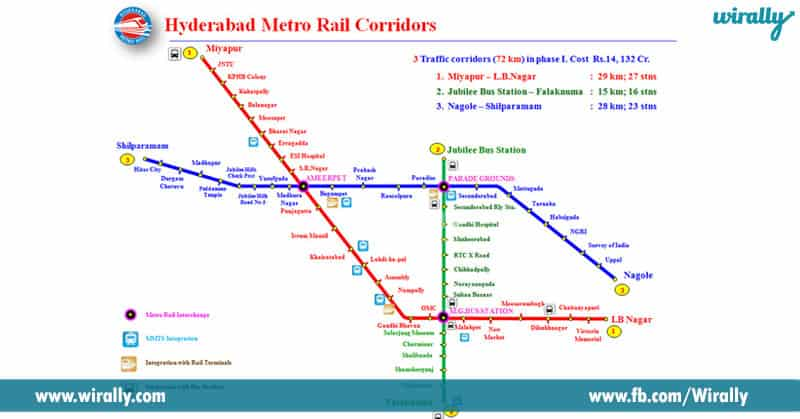 1. E metro rail ni Nagole to Hitech City