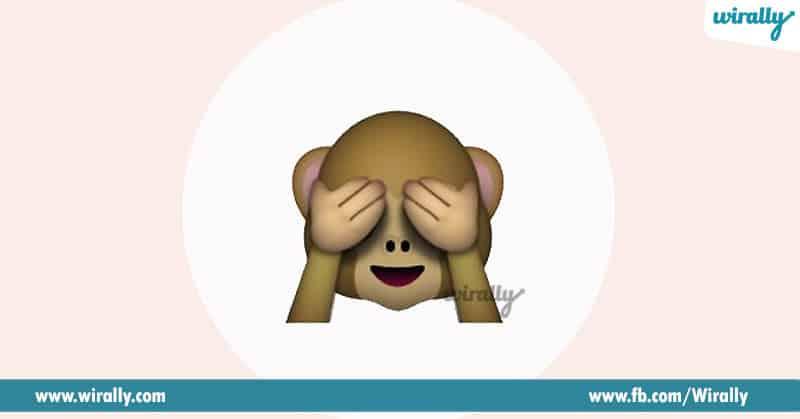 1. Monkey closing eyes