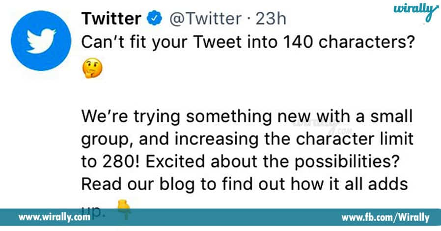 4 Twitter about to Increase the 140 Character limit to 280 Character