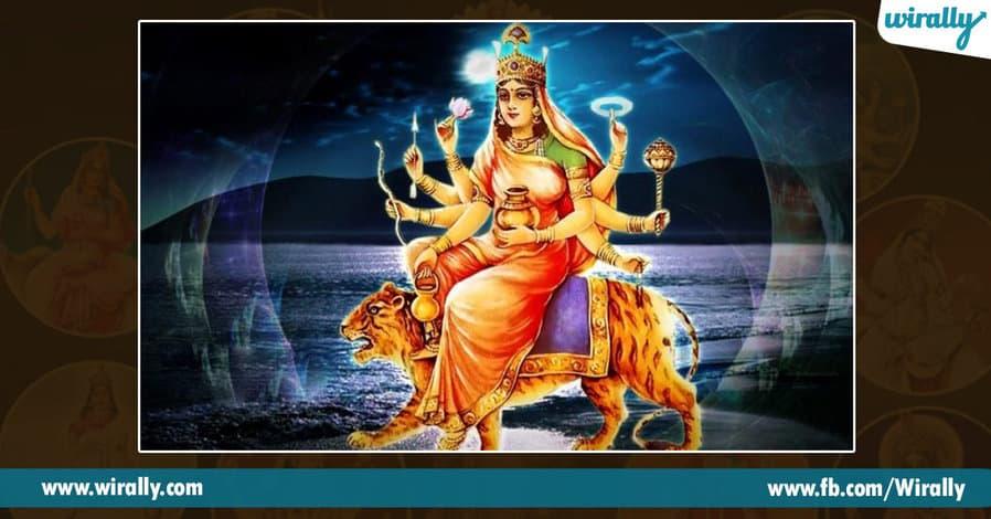 4 avataras and colors of Durga Ammavaru