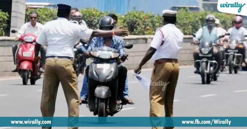 4)Bandi lo license unna roju minimum dekhani traffic police