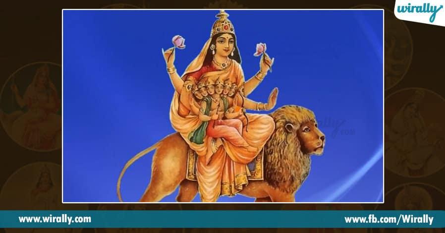 5 avataras and colors of Durga Ammavaru