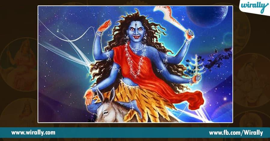 7 avataras and colors of Durga Ammavaru
