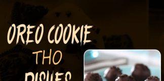 Cookies, Food, Oreo Truffles, dark chocolate chips,Oreo Nutella Frappe, Milk, Whipped cream,Oreo Pancakes,Milk, egg whites, bananas,Oreo cheesecake mugcake,Oreo hot chocolate,