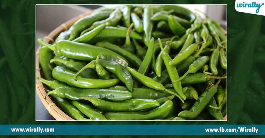 0 green chilli loni arogya gunalu
