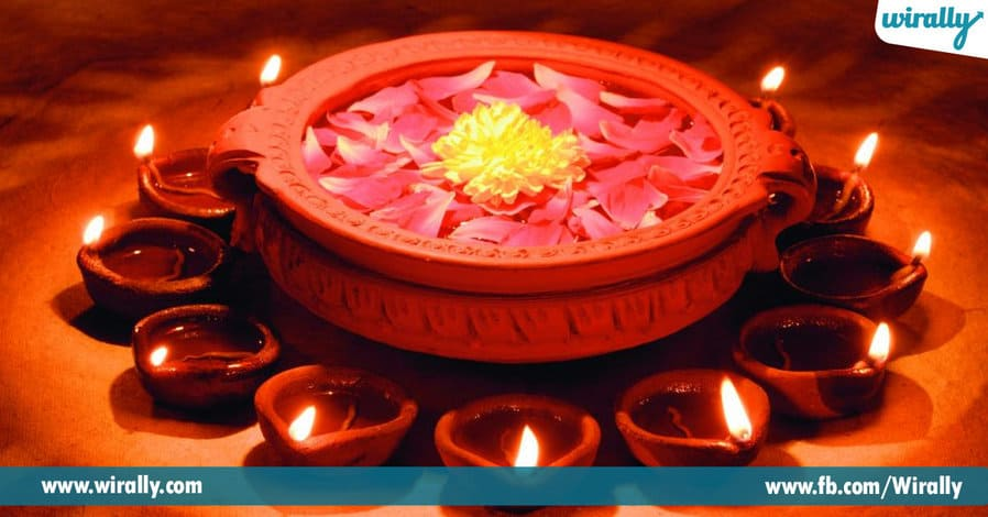 5 easy decoration ideas for diwali wirally for Simple diwali home decorations