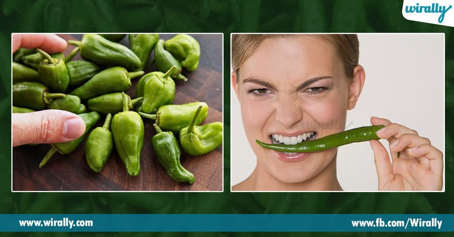 4 green chilli loni arogya gunalu