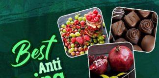 Healthy body, healthy food, Berries, Dark chocolate, Grapes, Green tea, Cruciferous Vegetables, Pomegranates