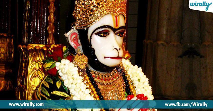7 bayani pogotte swetharka anjaneya swami