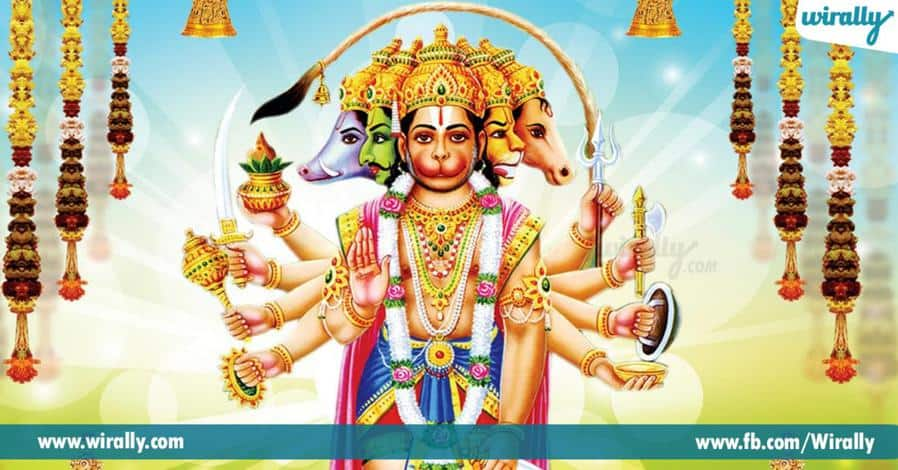 4 hanumanthudi rupalenni panvchamukha hanuman gurinchi telusa