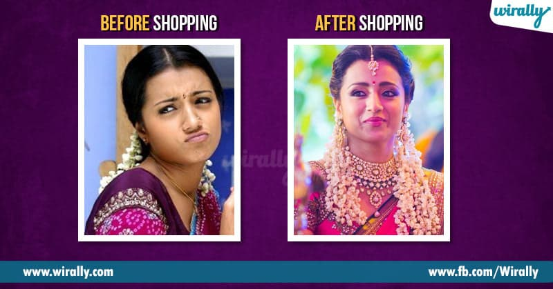 Before shopping after shopping