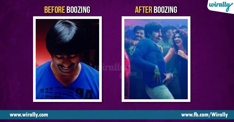 Before boozing after boozing