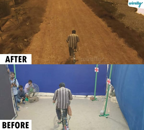 Rangasthalam Before And After Visual Effects