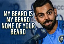 Virat Kohli Beard Insurance