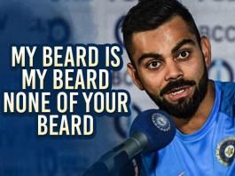 Virat Kohli Beard Insurance