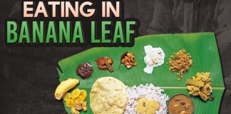 eat food on banana leaf