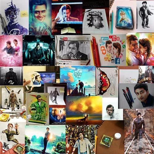 3d art sketches